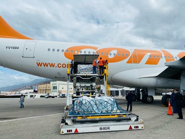 @CancilleriaVE. Вакцина прибыла в Международный аэропорт имени Симона Боливара в Майкетии