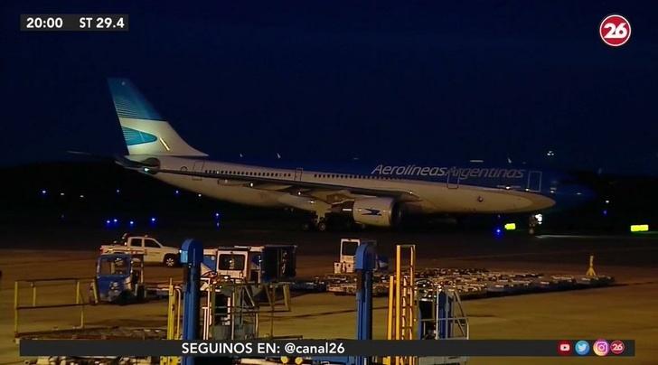 «Аэробус 330-200» «Аргентинских Авиалиний» прибыл в Буэнос-Айрес 28 февраля